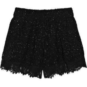 DVF Weslia Black Silk Bead Lace Short L